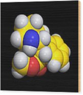 Ritalin Molecule Wood Print by Dr Tim Evans