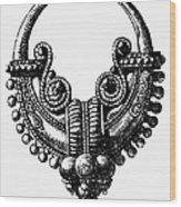Rome: Gold Earring Wood Print by Granger