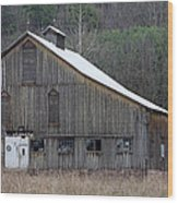 Rustic Weathered Mountainside Cupola Barn Wood Print by John Stephens