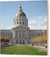 San Francisco City Hall - Beaux Arts At Its Best Wood Print by Christine Till