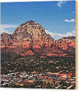 Sedona Red Rock Wood Print by Lisa  Spencer