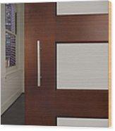 Sliding Door In Upscale Home Wood Print by Robert Pisano