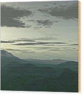 Terragen Render Of Mt. St. Helens Wood Print by Rhys Taylor