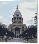 Texas Capitol Color 6 Wood Print by Scott Kelley