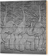 Thai Style Handcraft Of Elephant Wood Print by Phalakon Jaisangat