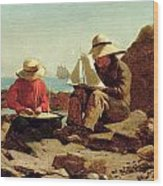 The Boat Builders Wood Print by Winslow Homer