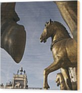 The Horses On The Basilica San Marcos Wood Print by Jim Richardson