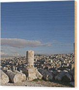 The Ruins Of The Ancient Citadel, Or Wood Print by Taylor S. Kennedy