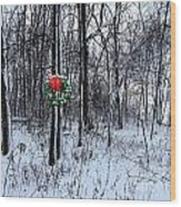 Tyra's Woods At Christmas Wood Print by Julie Dant