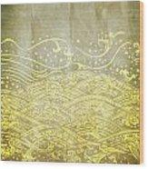 Water Pattern On Old Paper Wood Print by Setsiri Silapasuwanchai