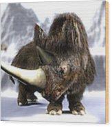 Woolly Rhinoceros Wood Print by Christian Darkin