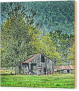 1209-1298 - Boxley Valley Barn 2 Wood Print by Randy Forrester
