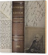 1860 Adam Sedgwick Review Of Darwin Wood Print by Paul D Stewart