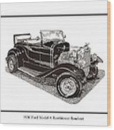 1930 Ford Model A Roadster Wood Print by Jack Pumphrey