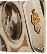 1934 Packard 1104 Super Eight Phaeton Emblem Wood Print by Jill Reger