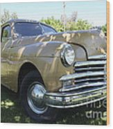 1949 Plymouth Delux Sedan . 5d16207 Wood Print by Wingsdomain Art and Photography