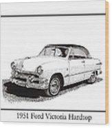 1951 Ford Victoria Hardtop Wood Print by Jack Pumphrey