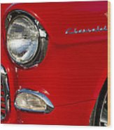 1955 Chevrolet 210 Headlight Wood Print by Jill Reger