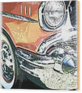1957 Chevy Wood Print by Steve McKinzie