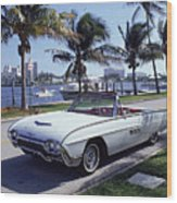 1963 Ford Thunderbird Wood Print by Fpg