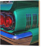 1966 Ford Thunderbird Wood Print by David Patterson