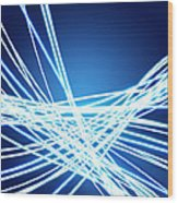 Abstract Of Weaving Line Wood Print by Setsiri Silapasuwanchai