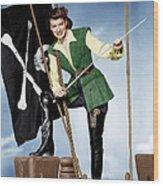 Against All Flags, Maureen Ohara, 1952 Wood Print by Everett