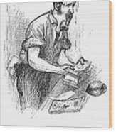 Bank Panic, 1873 Wood Print by Granger
