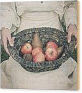 Basket With Fruits Wood Print by Joana Kruse