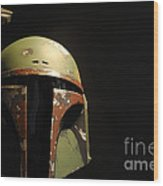Boba Fett Helmet Wood Print by Micah May
