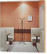 Cafe Dining Room Wood Print by Magomed Magomedagaev