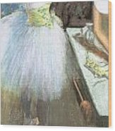 Dancer In Her Dressing Room Wood Print by Edgar Degas