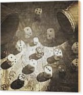 Dice Wood Print by Joana Kruse