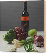 Foods Rich In Quercetin Wood Print by Photo Researchers, Inc.