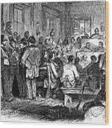 Kansas-nebraska Act, 1855 Wood Print by Granger