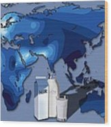 Lactose Tolerance, Eurasia And Africa Wood Print by Art For Science