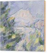 Mont Sainte-victoire Wood Print by Paul Cezanne
