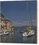 Portofino In The Italian Riviera In Liguria Italy Wood Print by David Smith