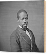 Portrait Of An African American Man Wood Print by Everett