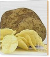 Potato Chips Wood Print by Blink Images
