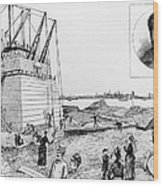 Statue Of Liberty, C1884 Wood Print by Granger