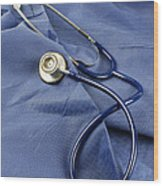 Stethoscope Wood Print by Photo Researchers, Inc.