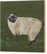 Sweetest Siamese Wood Print by Leslie Allen