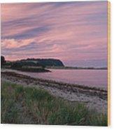 Twilight After A Sunset At A Beach Wood Print by Ulrich Schade