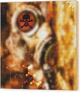Chemical Warfare Wood Print by Mehau Kulyk