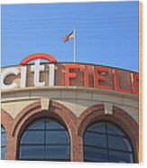 Citi Field - New York Mets Wood Print by Frank Romeo
