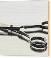 Hair Shears Wood Print by Blink Images