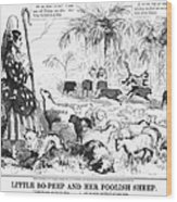 Secession Cartoon, 1861 Wood Print by Granger
