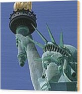 Statue Of Liberty Wood Print by Ron Watts