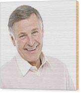 Happy Senior Man Wood Print by